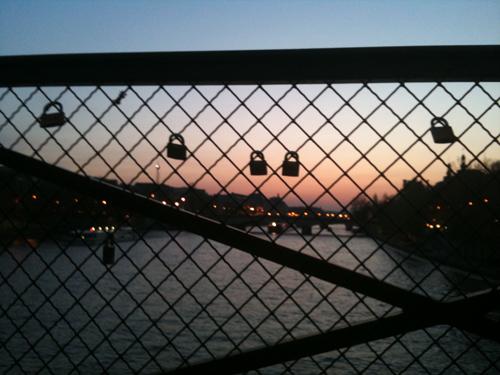 Pont romantique seine Paris