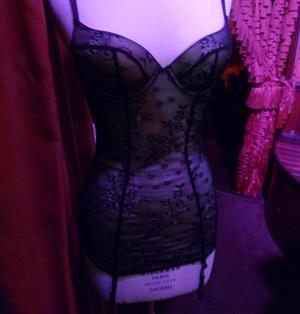 guepiere noire lingerie